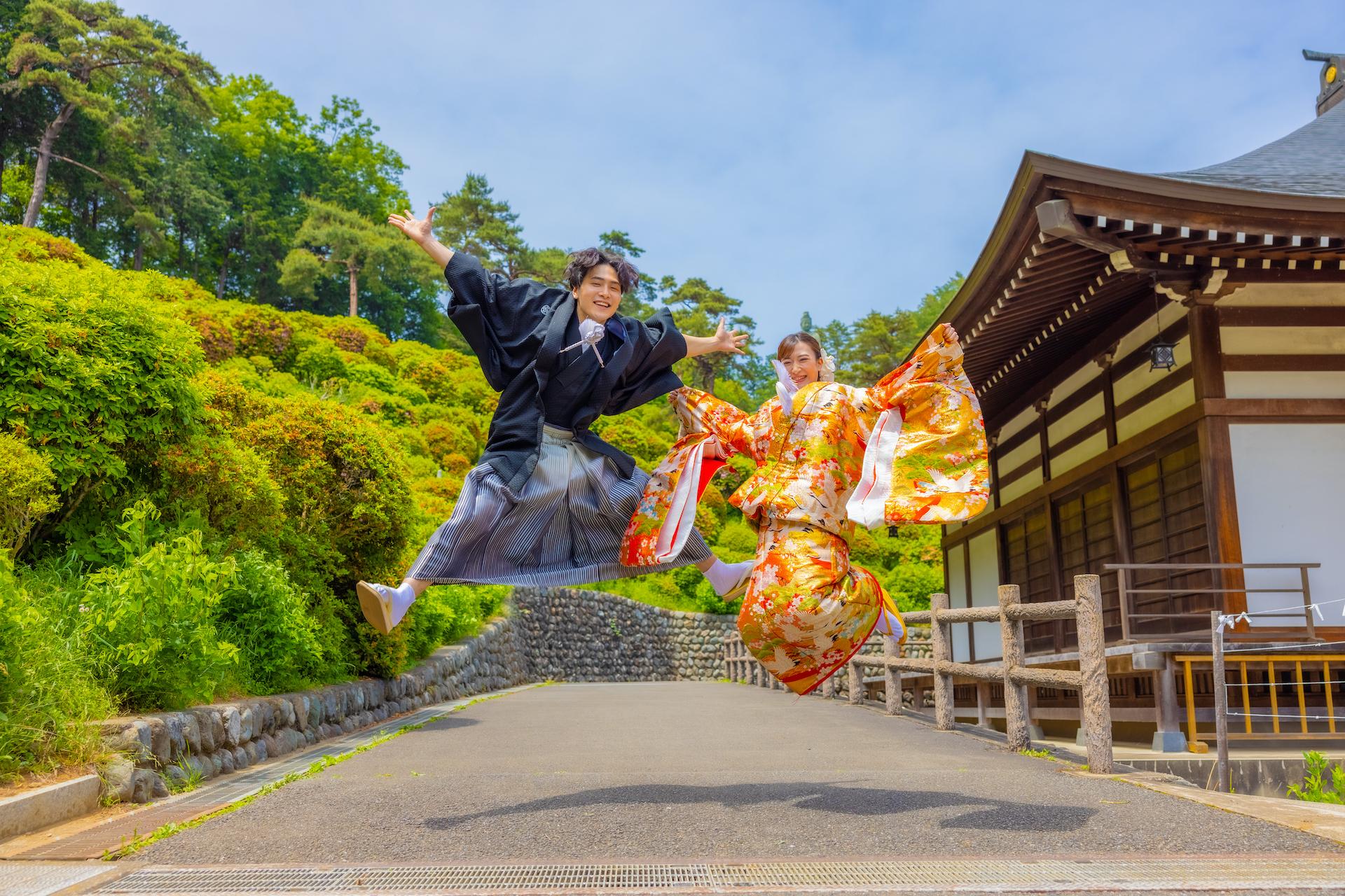 塩船観音寺の結婚式前撮り